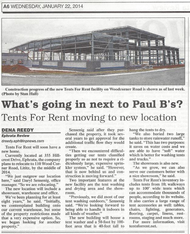 What's going in next to Paul B's