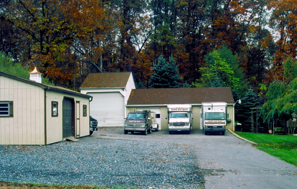 In 1985, we moved to a 3 car garage.