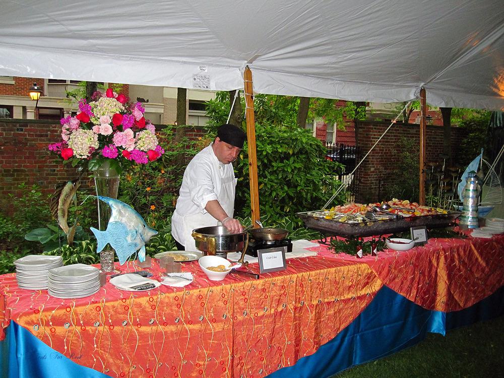 Fundraiser banquet tent