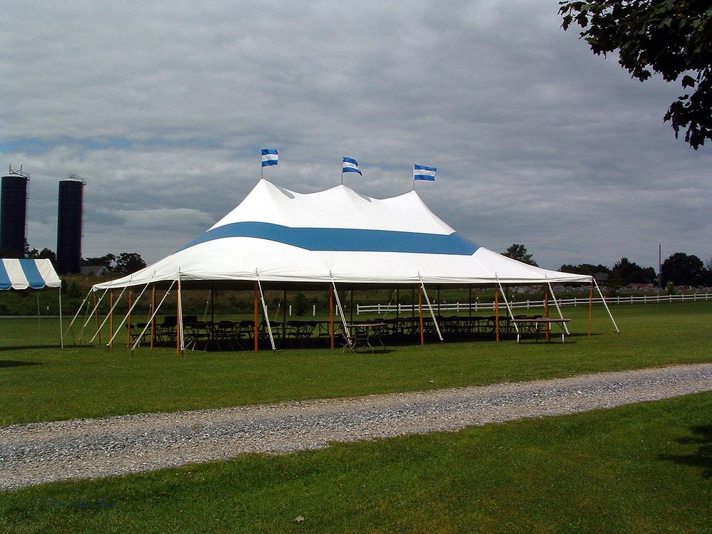 Outdoor fundraiser tent