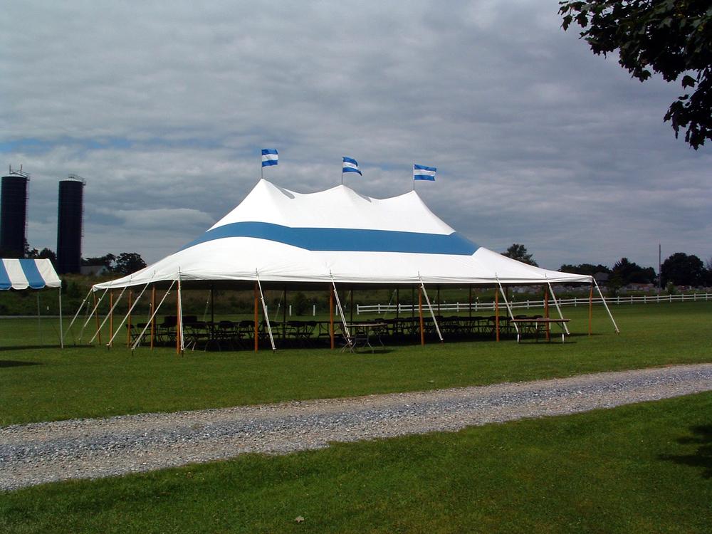 30x50 blue tent