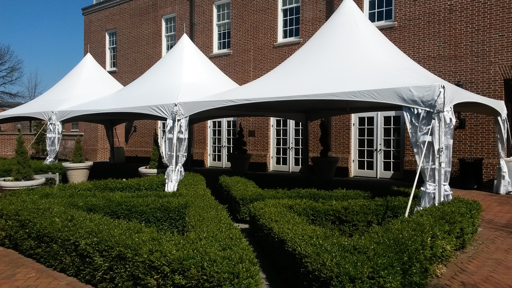20x20 white frame tents