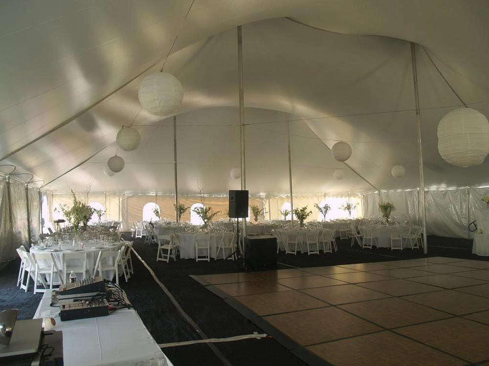 York tent dance floor rental