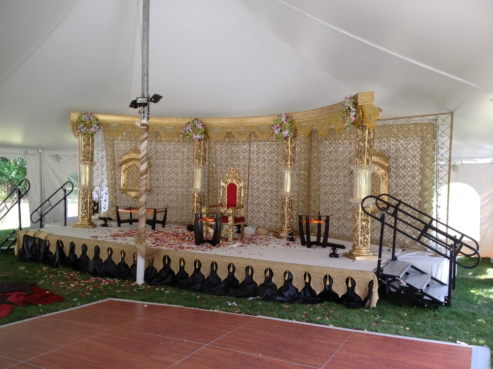 Outdoor tent stages for rent