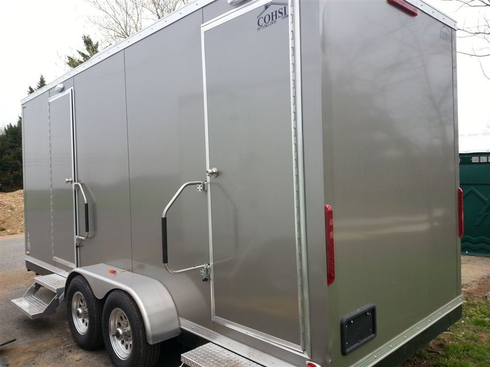 Six person restroom trailer rental