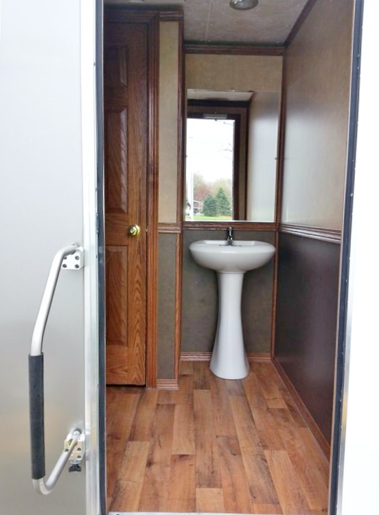 Six person restroom trailer