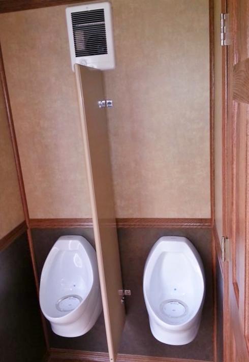 Six person restroom trailer