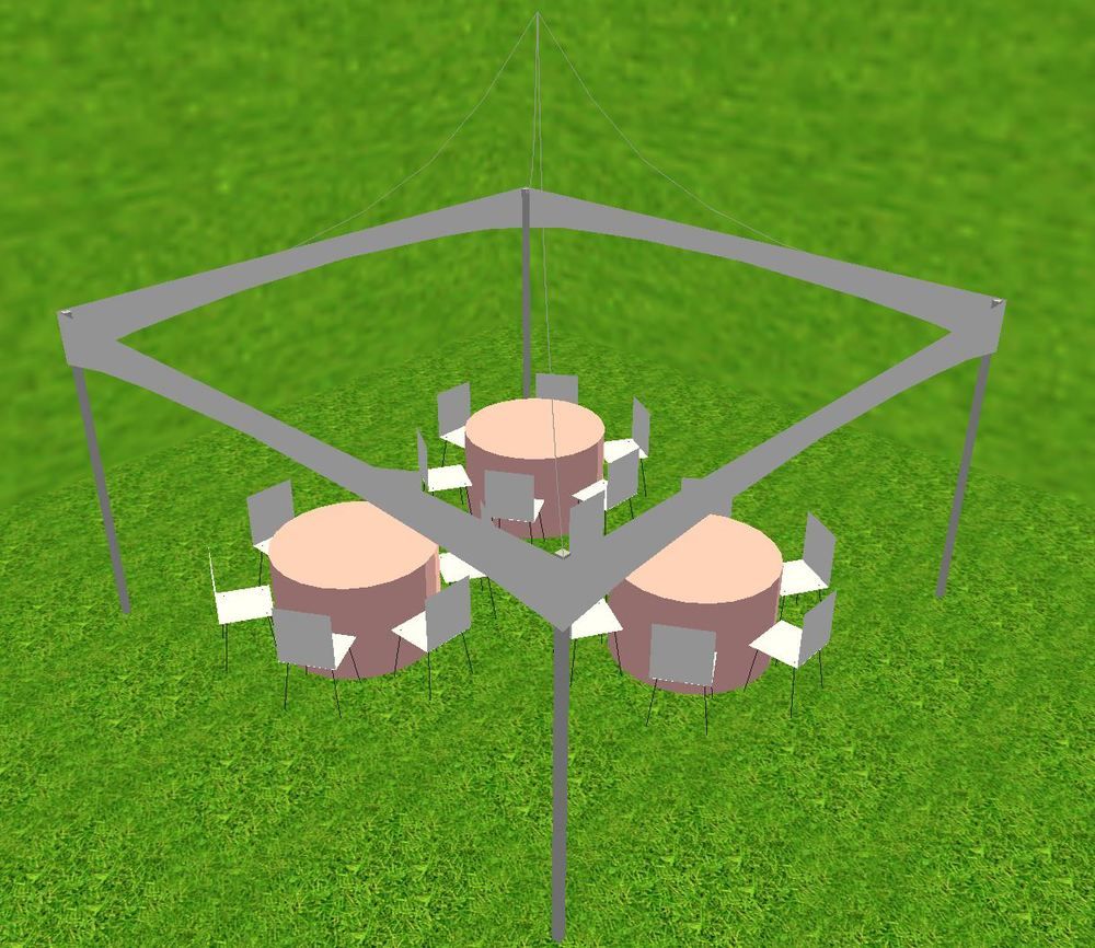 15x15 tent - Small Tent Layout