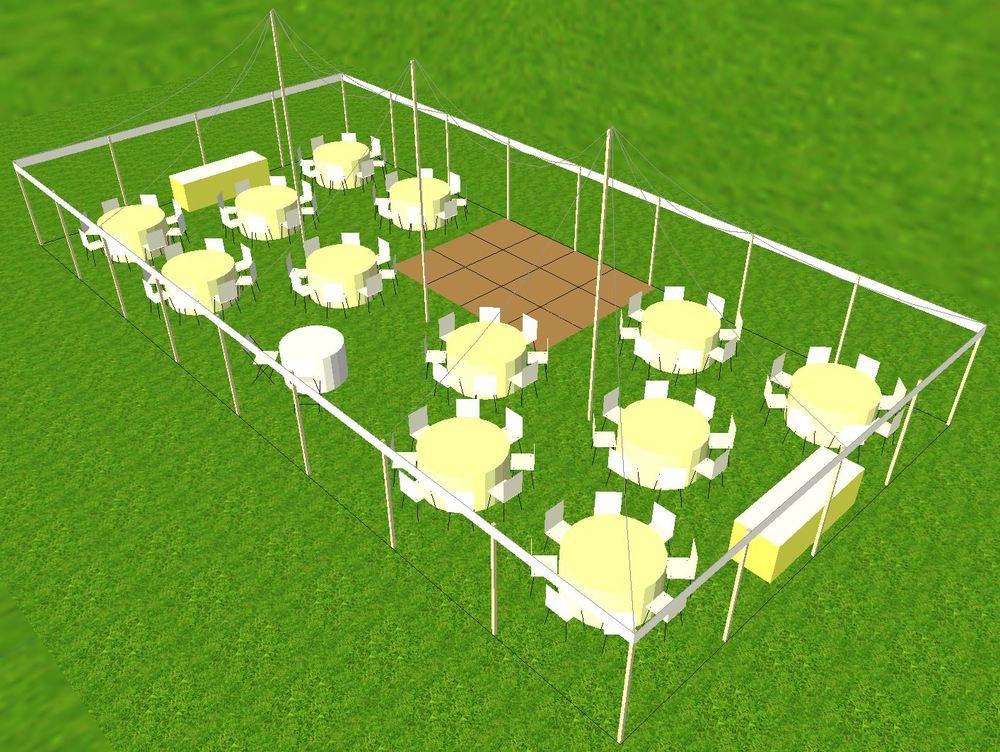 30x50 tent Cad design