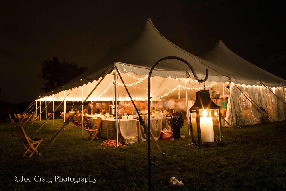 Ephrata, PA wedding tent and lighting