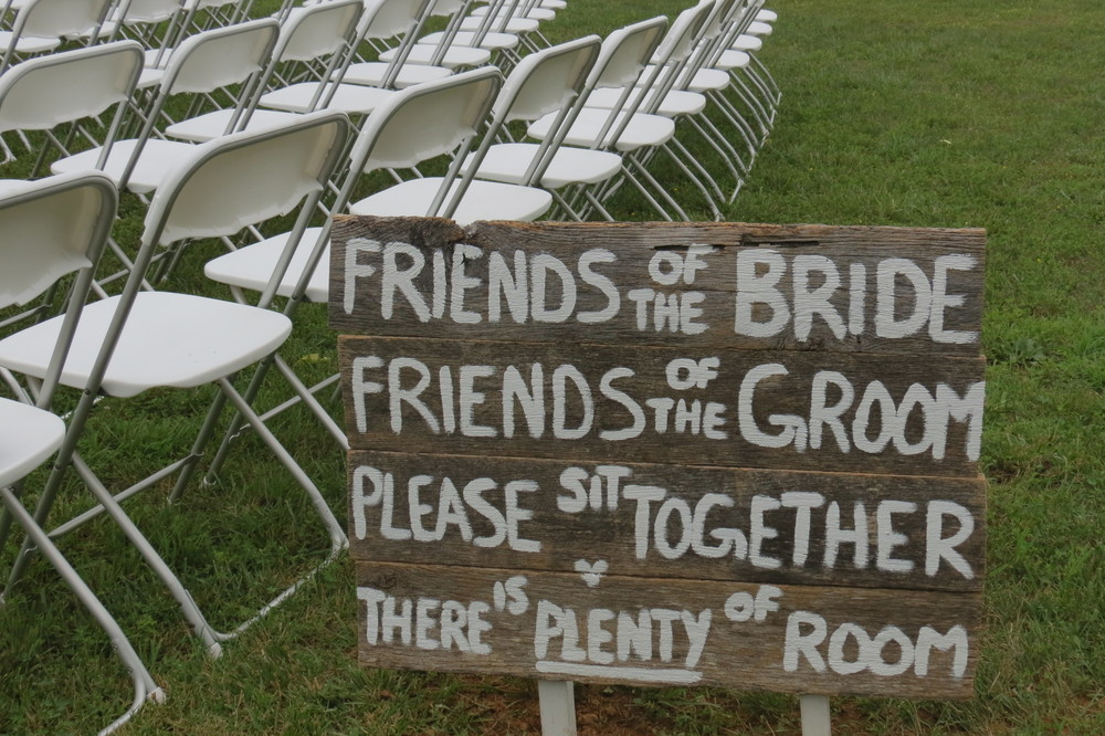 Outdoor wedding ceremony in Ephrata, PA