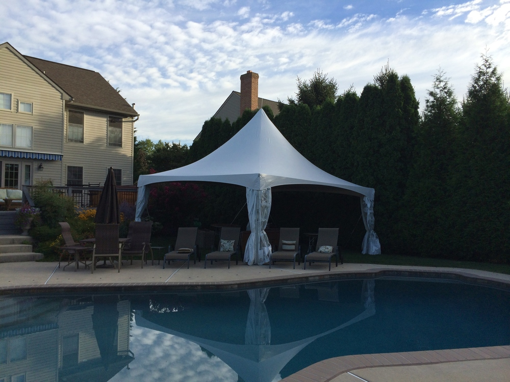 Backyard party tent for rent in Ephrata, PA