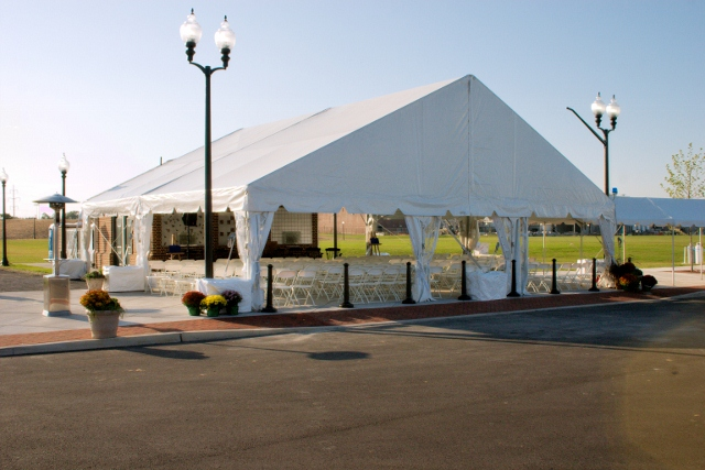 Beautiful White Frame Tent for rent in Hamburg, PA