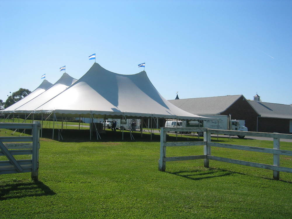 Large white tent rentals in Shippensburg, PA