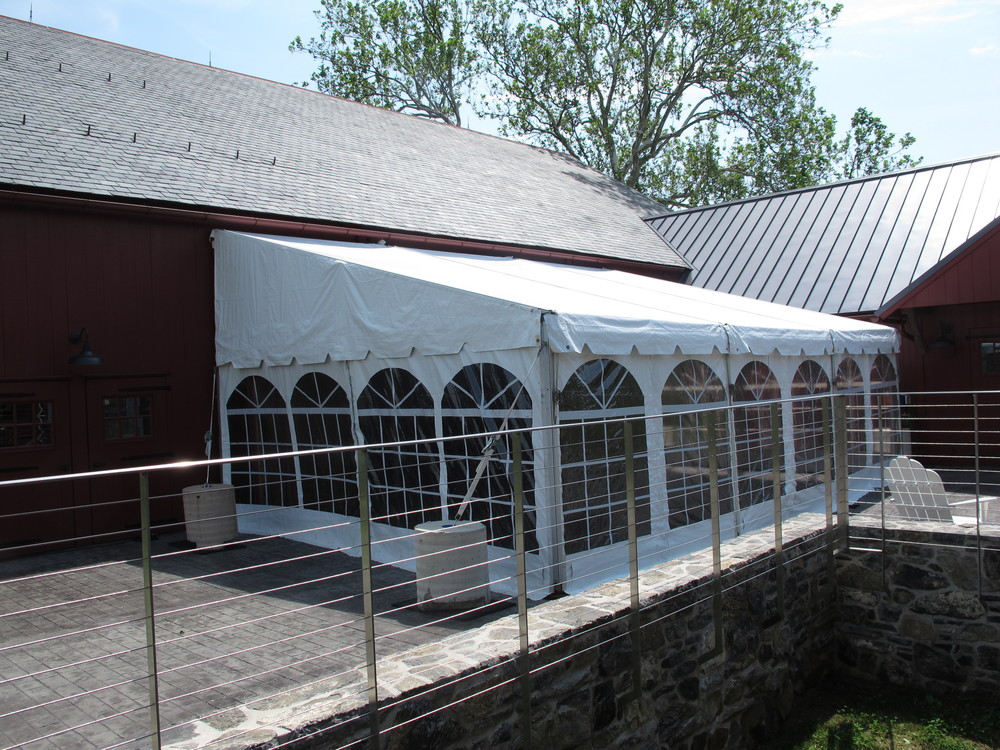 Keder tracked cathedral window tent sidewalls