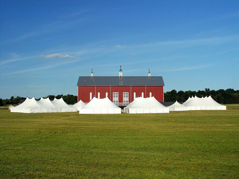 Multiple large tents are available for immediate government rental