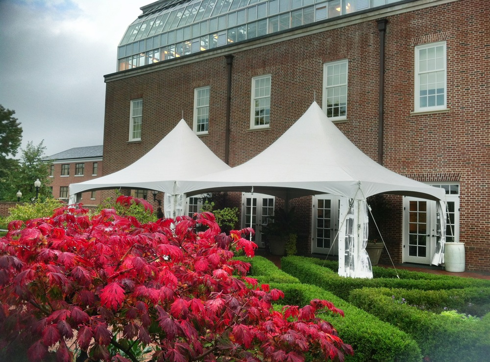 Both small and large tents are avaible for GSA contract rental