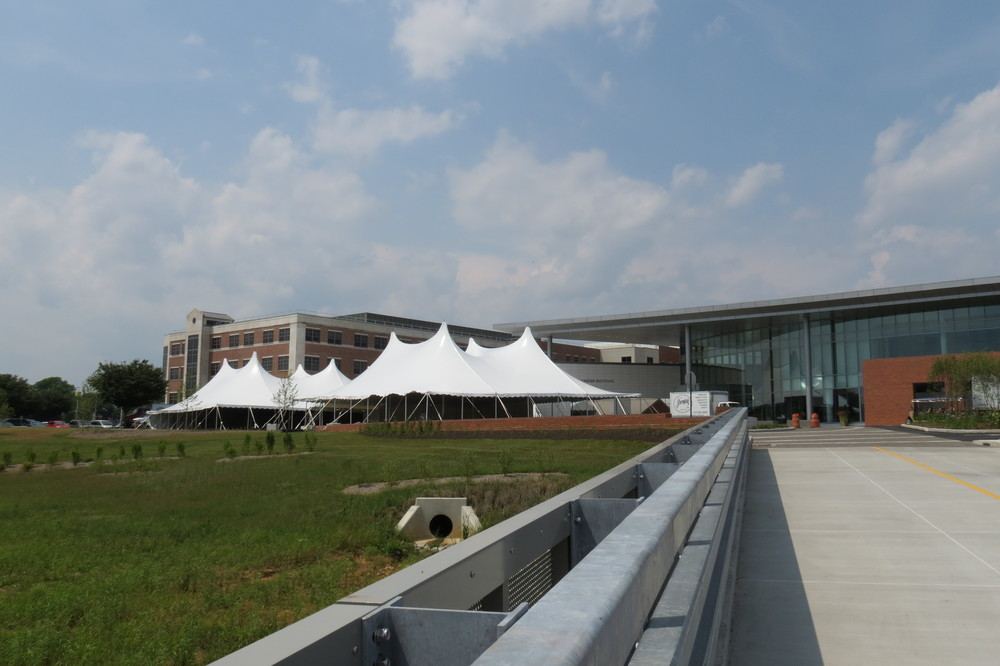 Outdoor government event tents