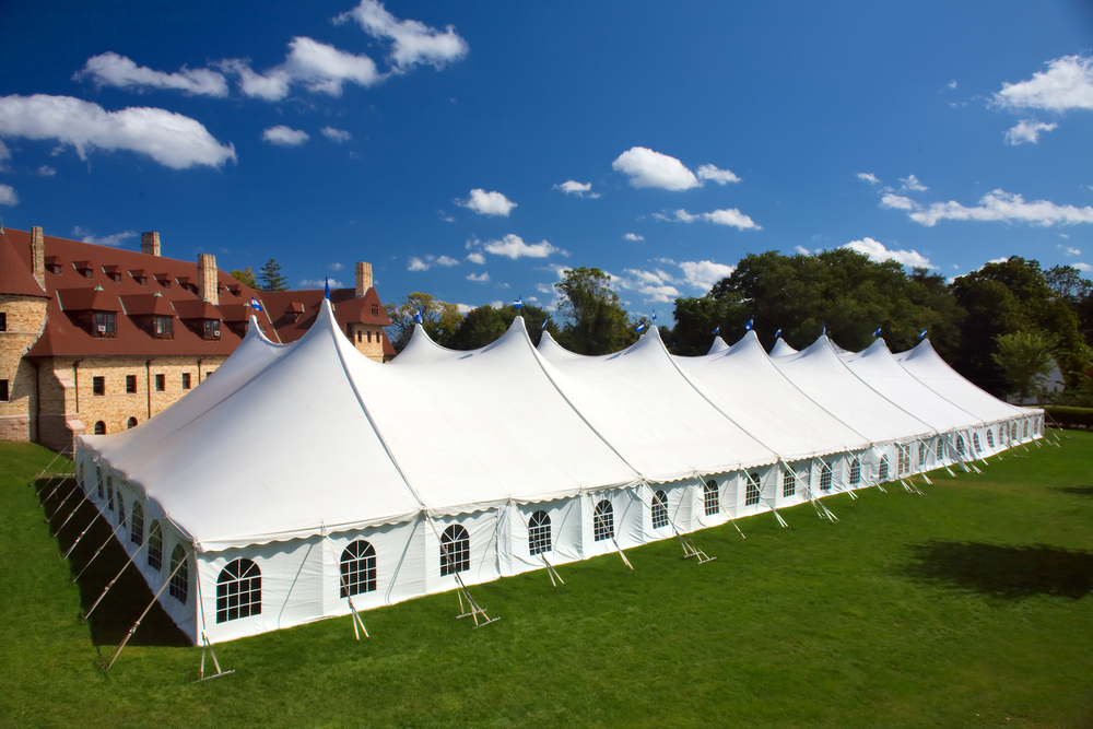 Large government rental tent