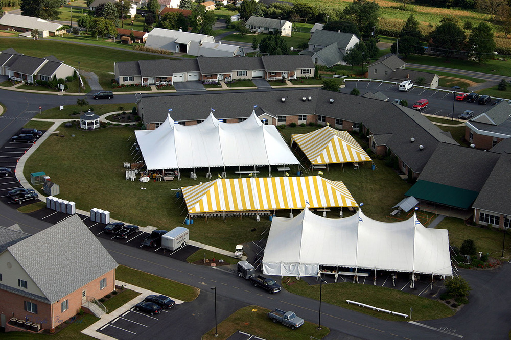 Large outdoor events under GSA contract rental tents
