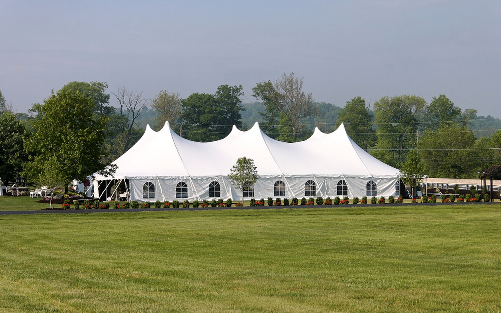 Cathedral window sidewalls give the tent an elegant look and allow more light to enter the tent