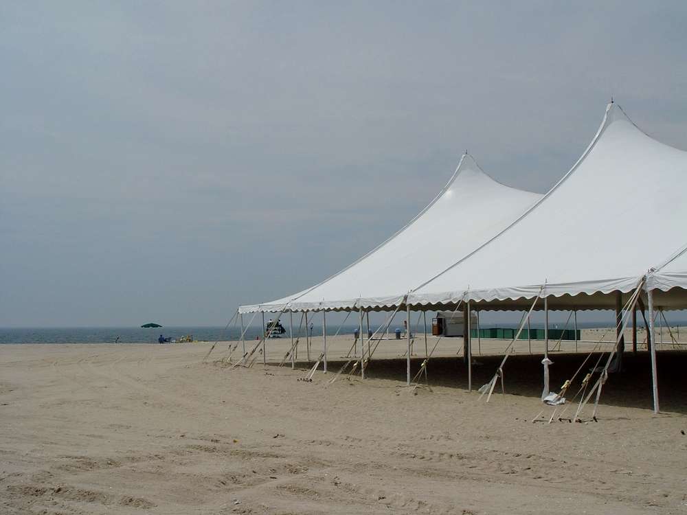 Beach wedding tent