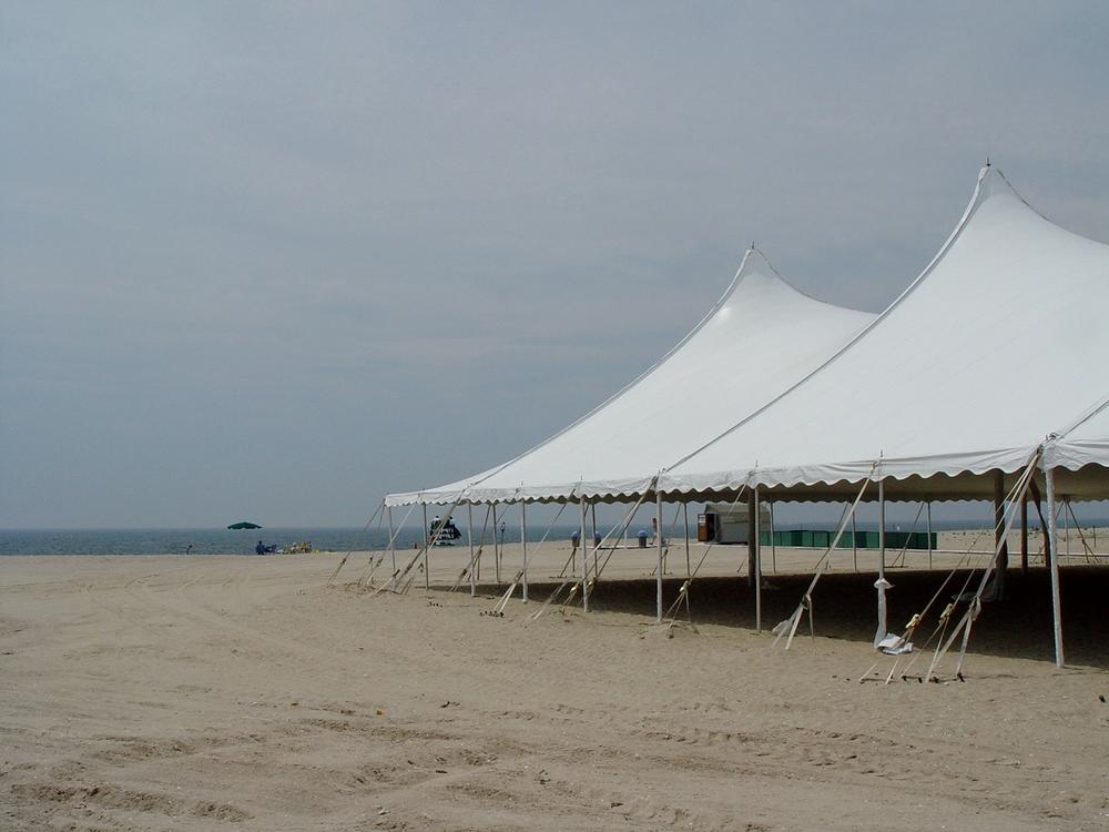Beach wedding tent