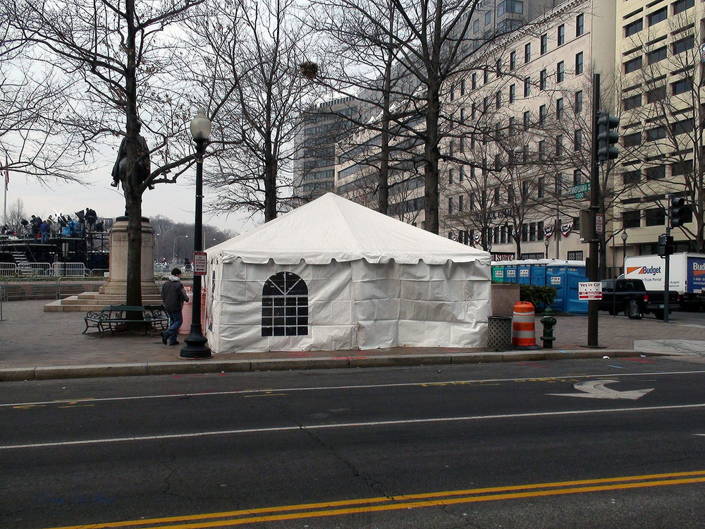 Tent for presidential inauguration