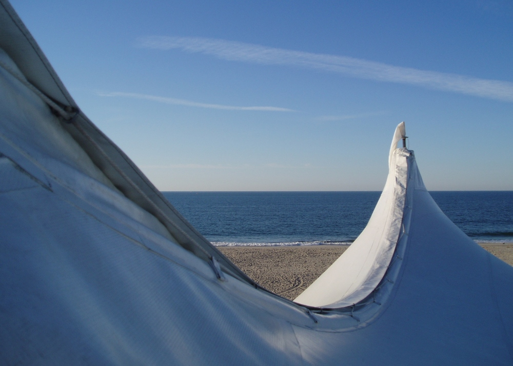 Tent for a wedding on the beach