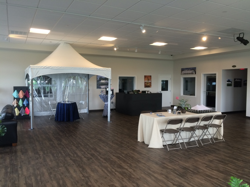 Tent inside our showroom