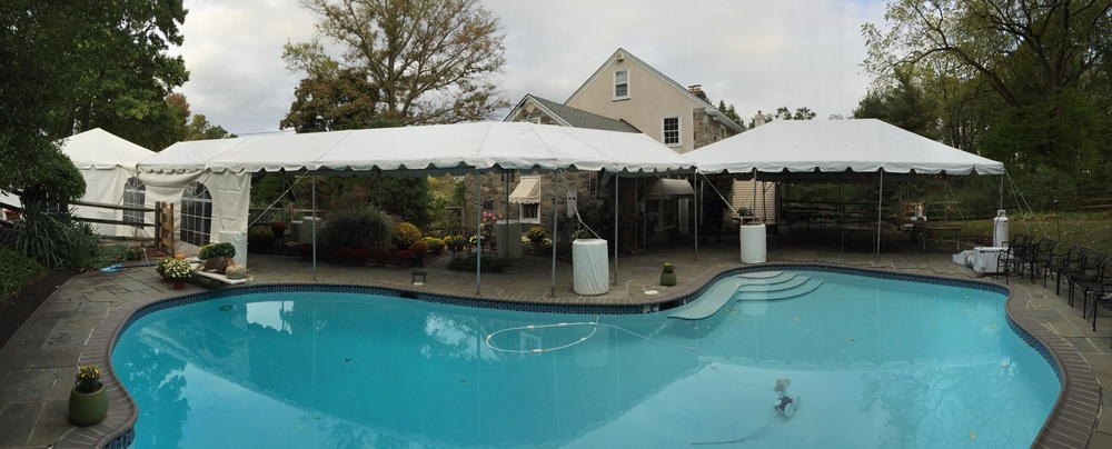 Poolside tents