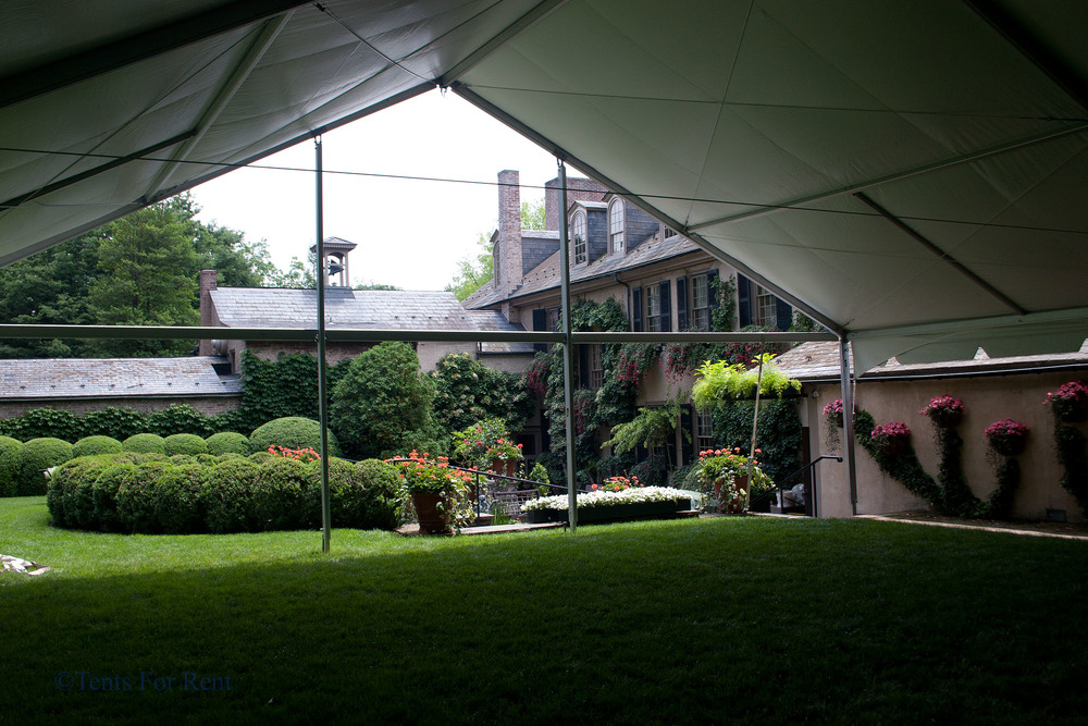 Tent in a garden