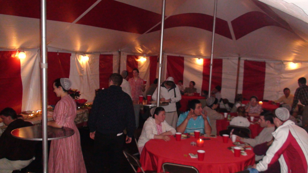 Christmas party in a tent