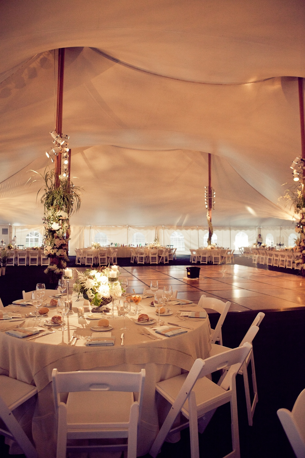 Cooled outdoor wedding tent