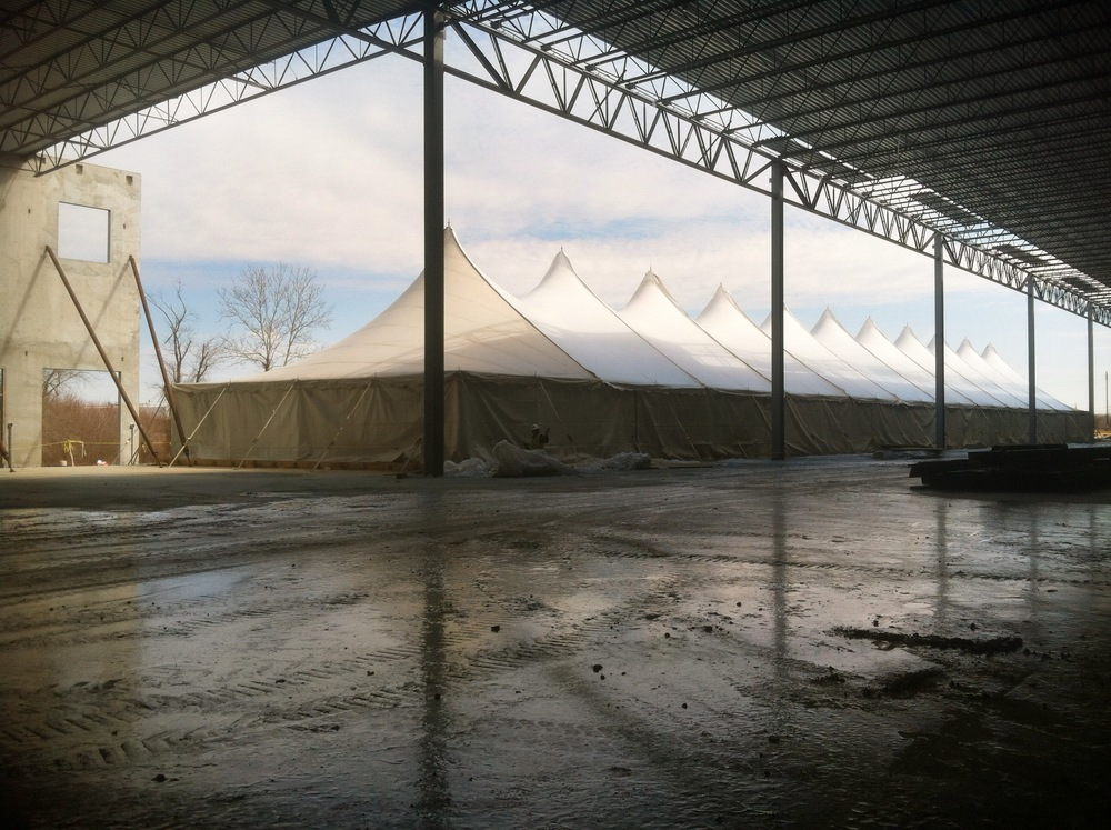 Winter concrete curing tent