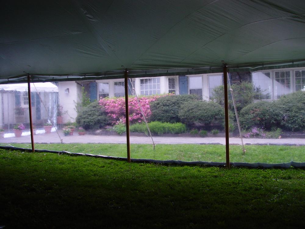 Clear tent walls