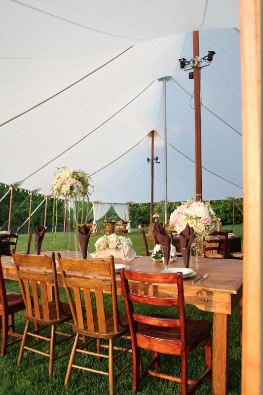 Translucent sailcloth wedding tent