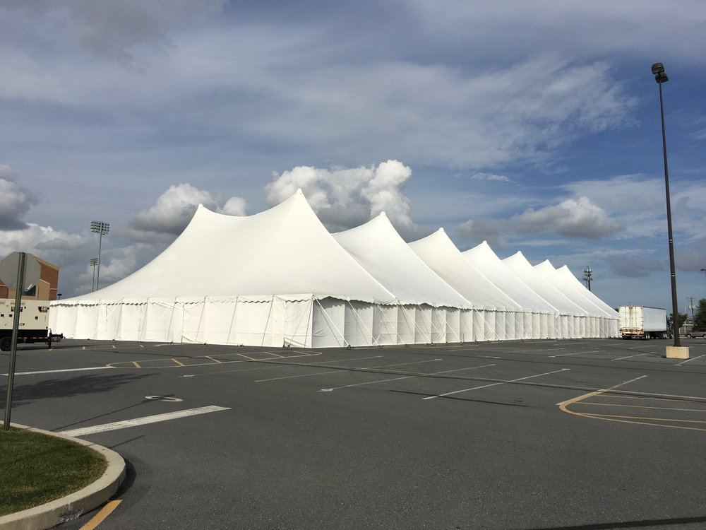Disaster response headquarters tents