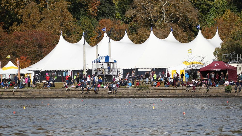 Tents at Fairmount Park for rowing event