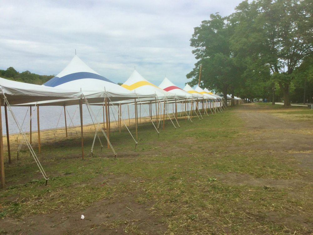 Rowing regatta tents at Fairmount Park