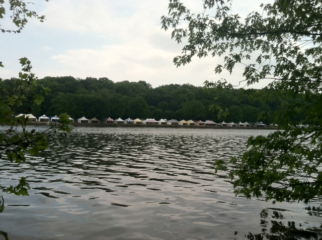 Rowing race tents