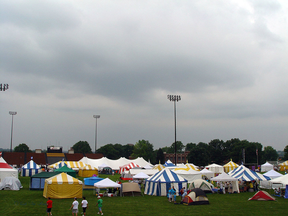 Relay for Life team tents