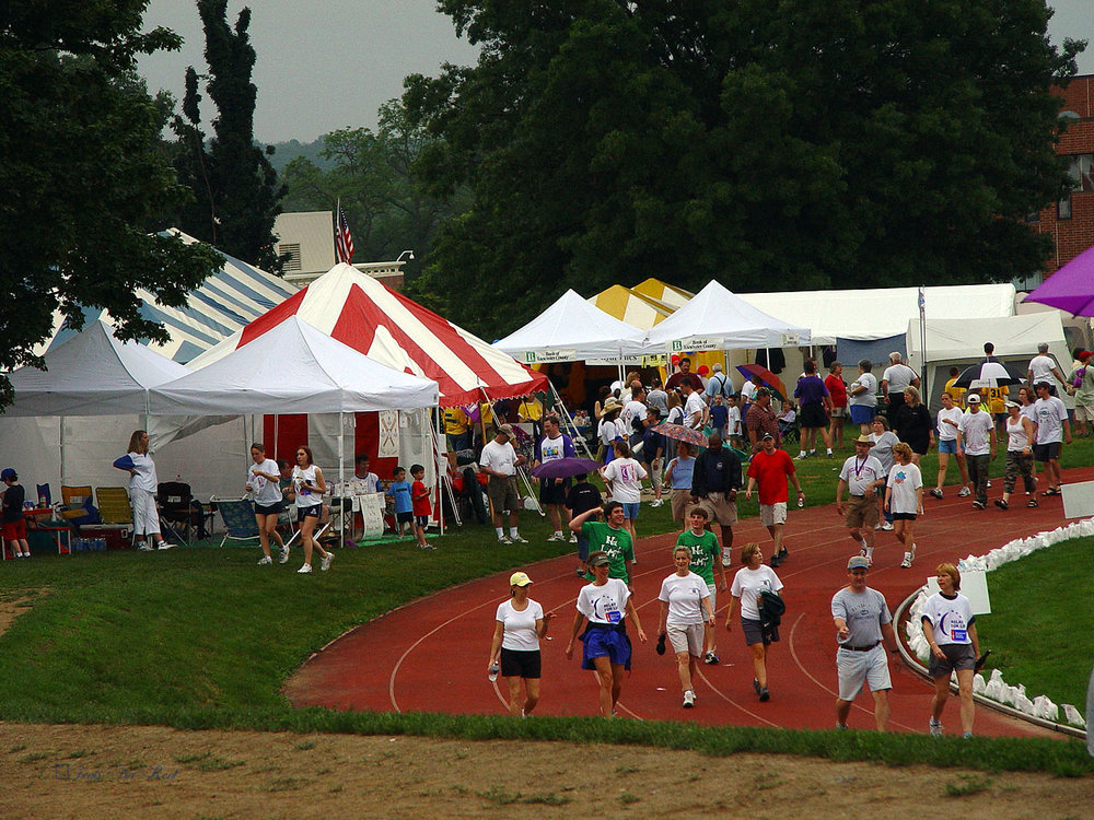 Tents at Lancaster Relay for Life