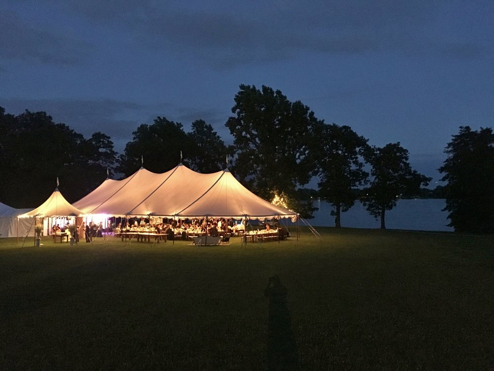 Sperry wedding tent