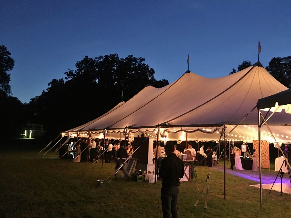 Stillwater sailcloth wedding tent