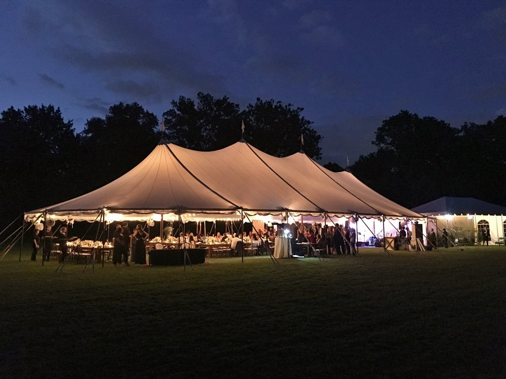 Sailcloth wedding tent