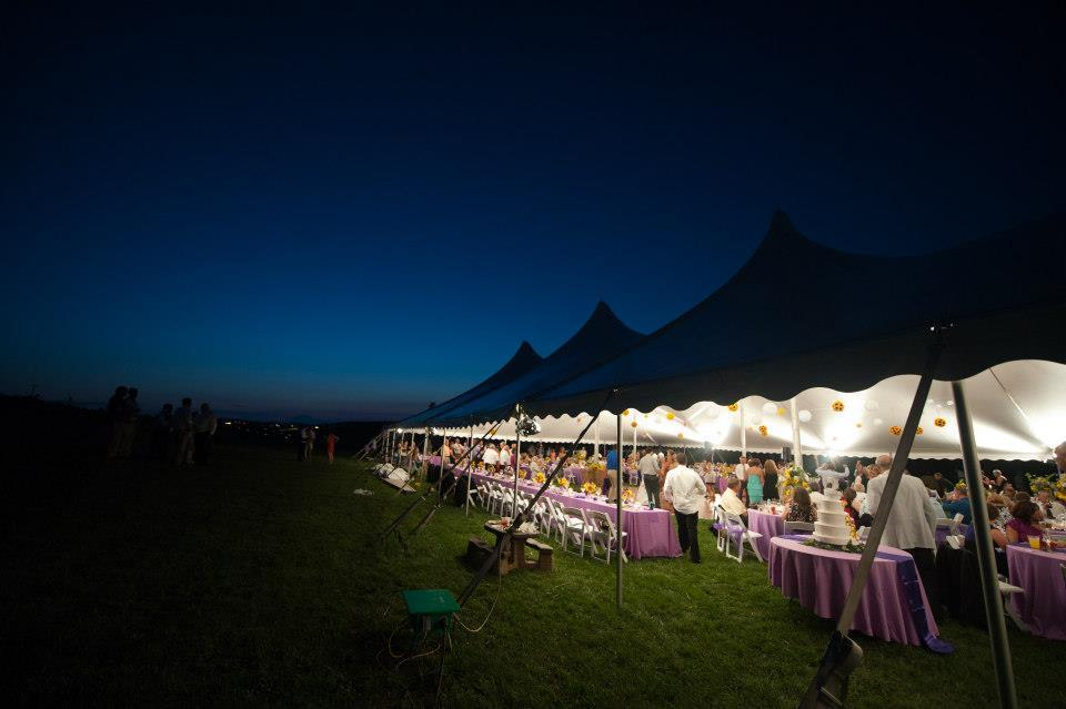 Wedding tents and lighting for rent in Annville PA