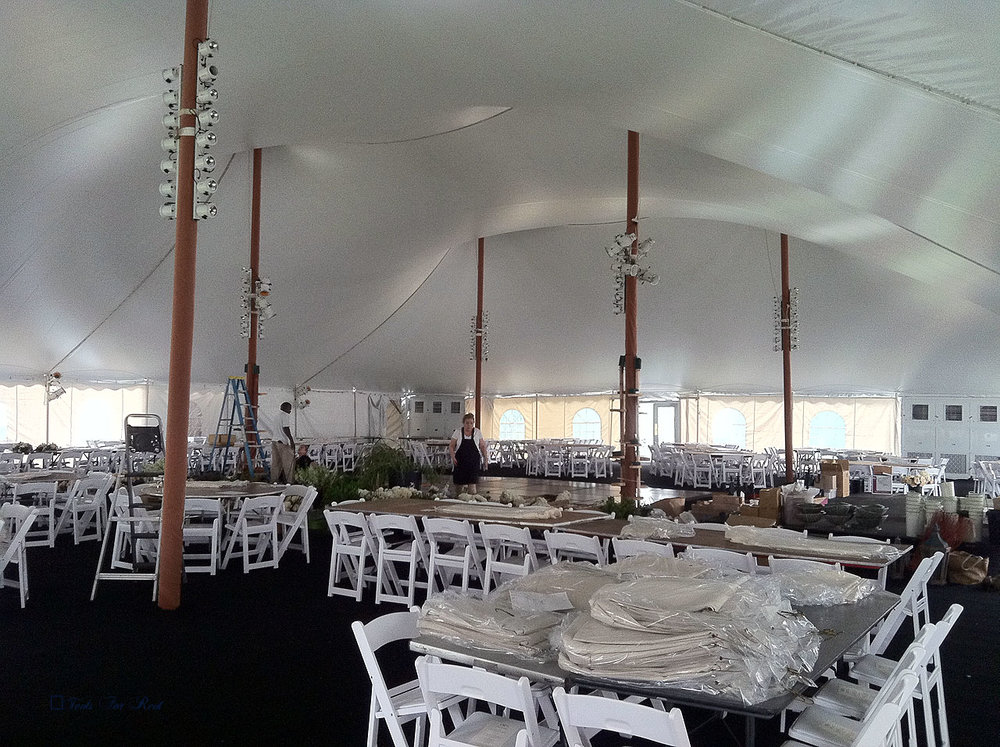 Tent, table, and chair rentals in Hershey