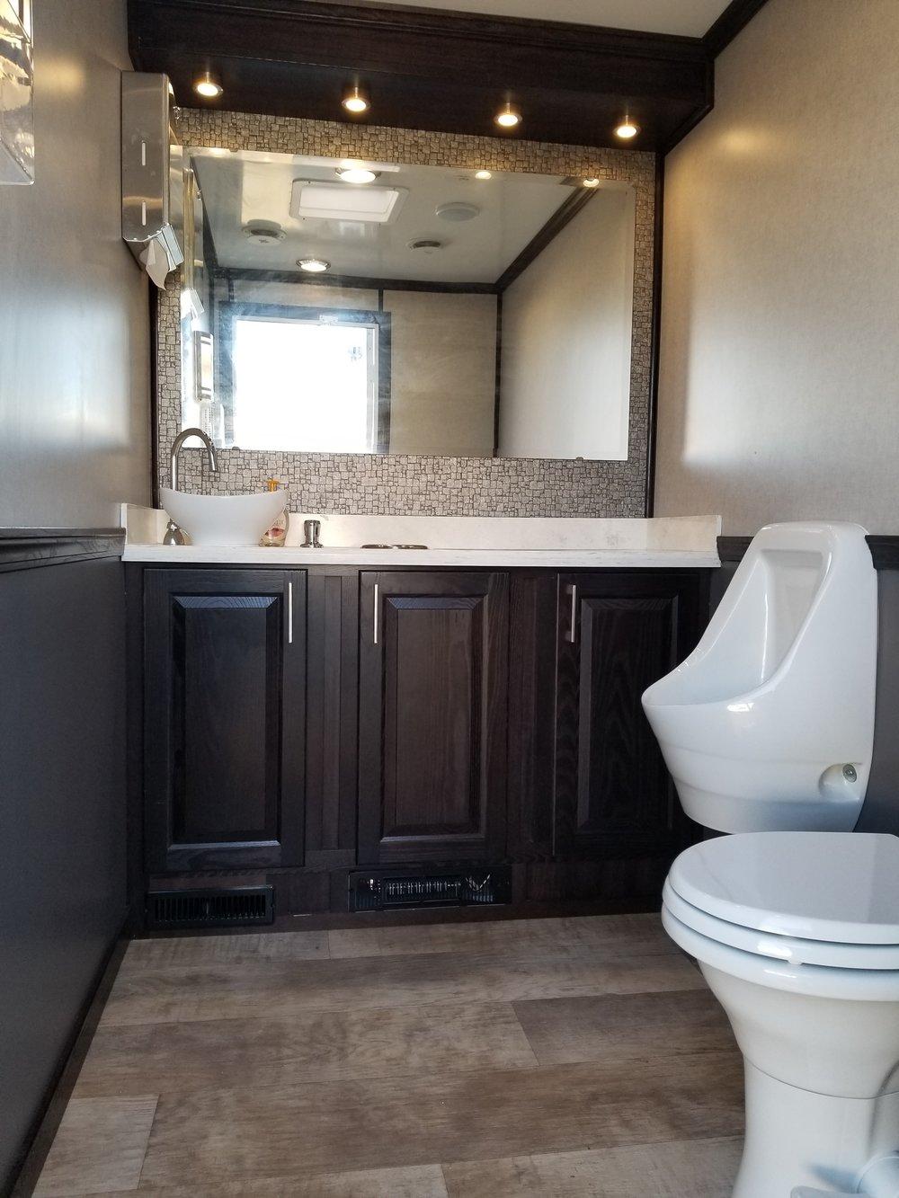 2 Person restroom interior