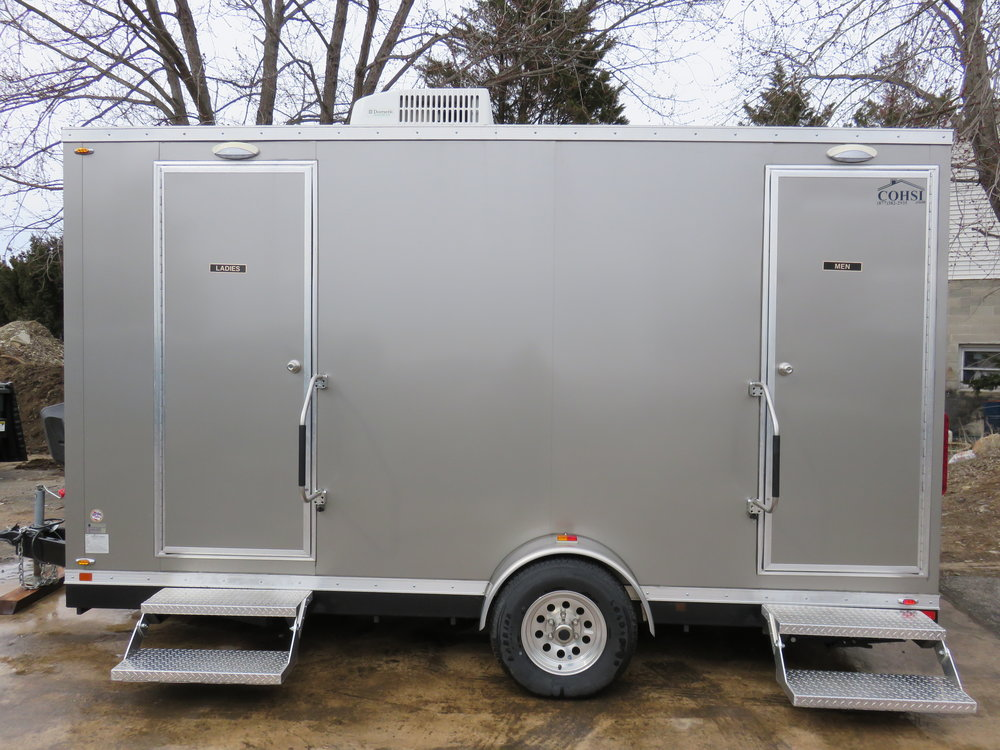4 person restroom trailer for tent events
